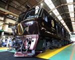 """九州""""七星号""""——号称""""一生一定要体验一次的奢华""""的日本寝台列车。(JIJI PRESS/AFP/Getty Images)"""