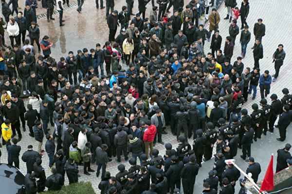 中国工人抗议