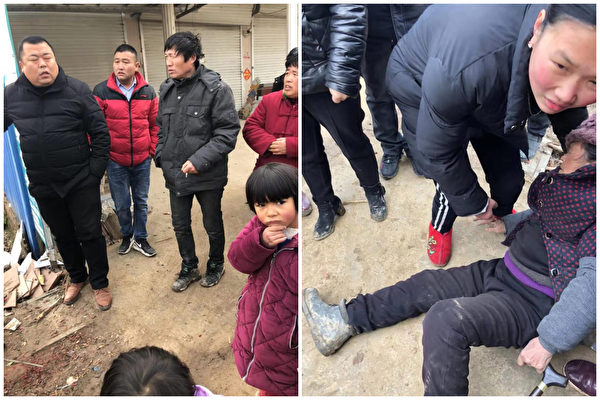 安徽阜阳市临泉县一名乡官在带队强拆时,殴打村民,遭一村民连捅数刀死亡。(村民提供)