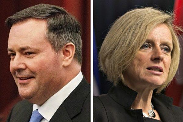 左:亚省反对党、联合保守党党领康尼。右:亚省省长诺特利