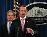 美国司法部副部长罗德·罗森斯坦(Rod Rosenstein)或将在三月中旬离任。(Nicholas Kamm / AFP/Getty Images)