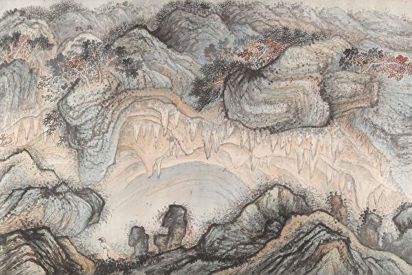 清石涛《游张公洞之图》