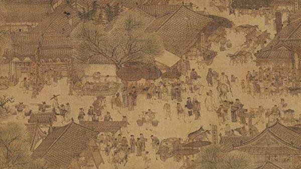 北宋 张择端《清明上河图》局部。(公有领域)
