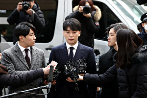 BIGBANG成員勝利(李昇炫)前往接受警方調查資料照。(Chung Sung-Jun/Getty Images)