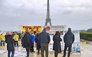 反對中共活摘器官 巴黎人權廣場遊人的心聲