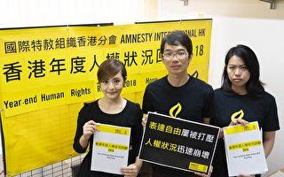 国际特赦组织:去年香港人权状况迅速崩坏