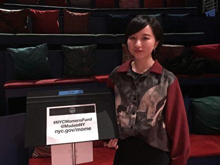 在纽约市追梦的独立电影人陈艺唯。