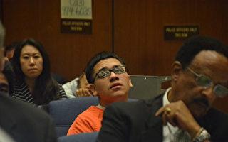 杀害南加大中国留学生纪欣然的阿尔贝托‧奥乔亚(Alberto Ochoa)(图中橘色衣服者)于3月8日被判终身监禁,不得保释。(大纪元资料照)