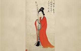 她本是一位侍女,却能不费一兵一卒,平息了边境战乱。图为清 康涛《持节仕女图》(局部),纸本设色,浙江省博物馆藏。(公有领域)