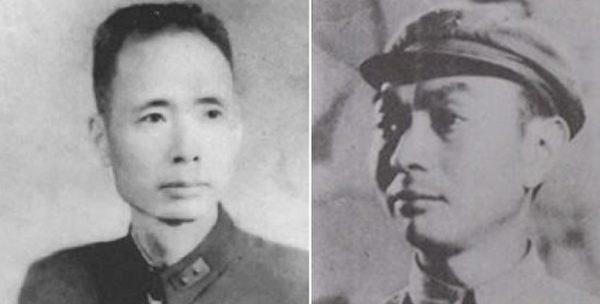 左为1946年任国防部参谋次长的国军中将刘斐,右为1947年任作战厅厅长的郭汝瑰。(公有领域)