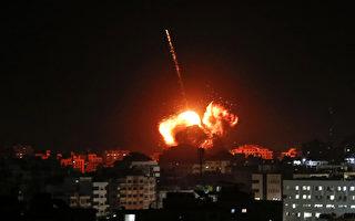 遭火箭弹袭击后 以色列对加沙空袭