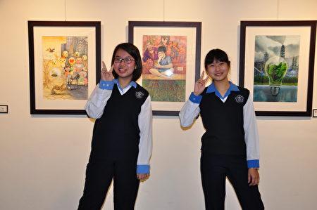 竹東國中參展學生和作品