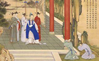清 焦秉贞《历朝贤后故事图》册之〈戒饬宗族〉,描绘东汉和帝和熹邓皇后事迹。(公有领域)