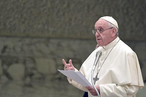 天主教宗方济各(Pope Francis)。(Tiziana Fabi/AFP/Getty Images)