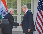 美國總統川普宣布,將取消對印度和土耳其的貿易最惠國待遇。圖為川普與印度總理納倫德拉·莫迪( Narendra Modi)2017年6月在白宮玫瑰園舉行新聞發布會。(Cheriss May/Getty Images)