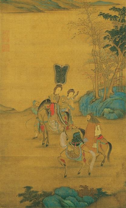 元人《明妃出塞图》,台北故宫博物院藏。(公有领域)