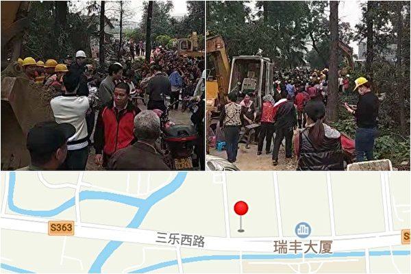 政府强征地 佛山数百村民静坐2天阻施工