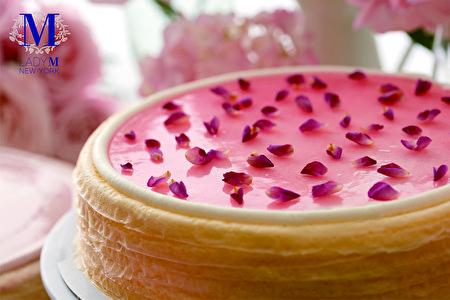 玫瑰千層蛋糕。