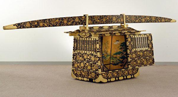 江户时代的笃姬嫁给幕府将军德川家定时用的驾笼。(大都会艺术博物馆提供)