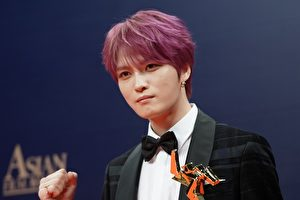 韩国男团JYJ成员金在中出席第13届亚洲电影大奖资料照。 (Anthony Kwan/Getty Images)