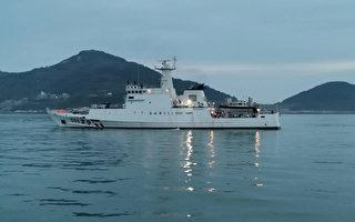 陸船越界捕魚丟石頭拒檢 台海巡隊震撼彈回擊