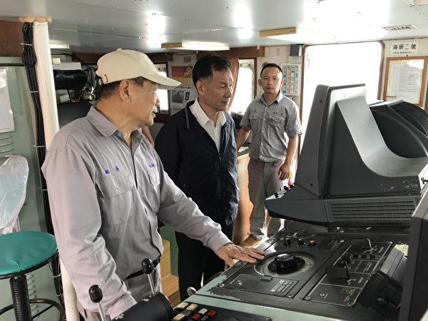 海研二号停靠马祖福澳港 刘增应参观