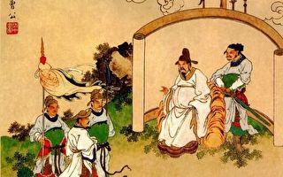 金协中彩绘《三国演义》第五回插图,发矫诏诸镇应曹公。(公有领域)