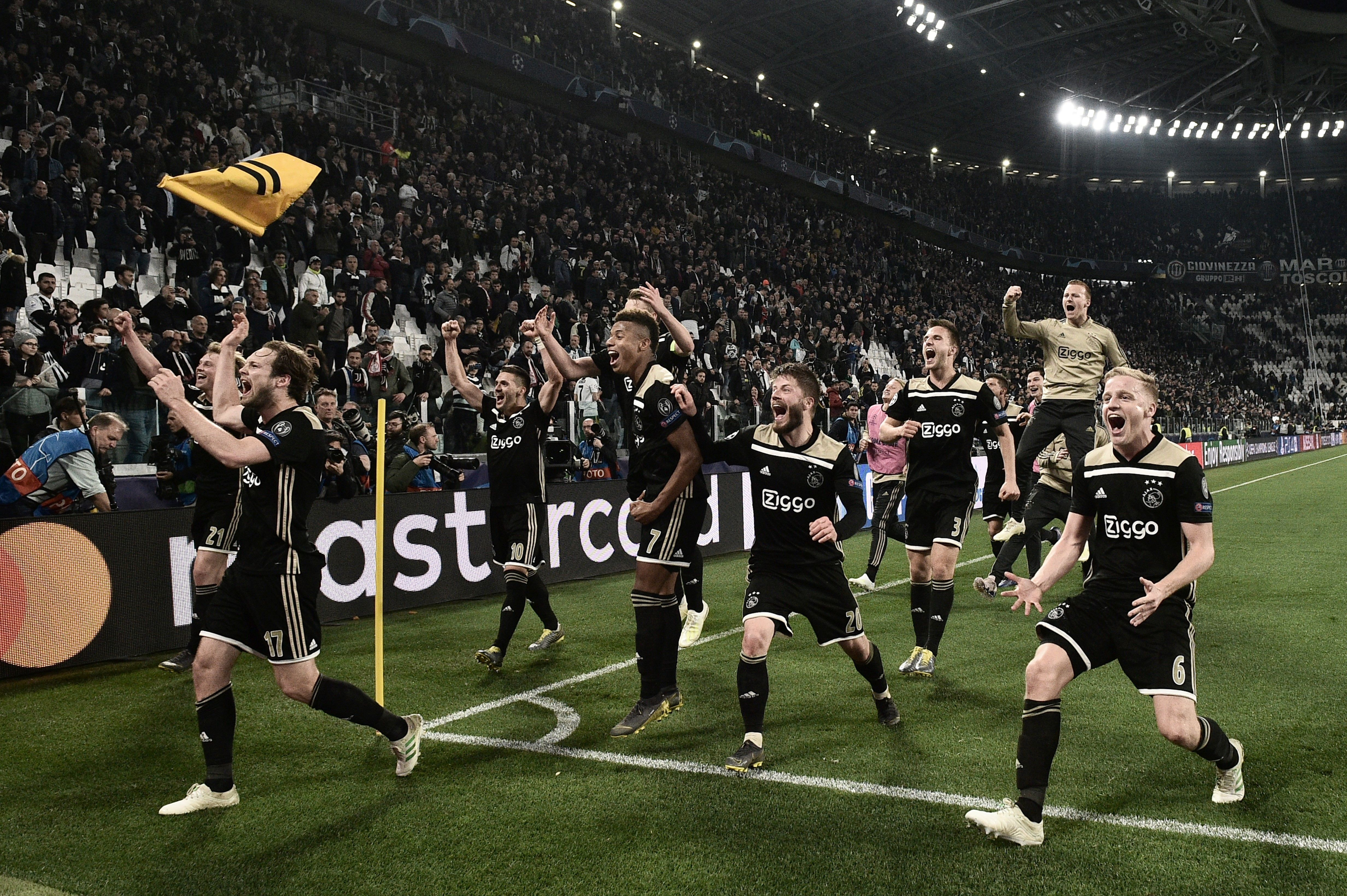 歐冠八強:阿賈克斯淘汰尤文