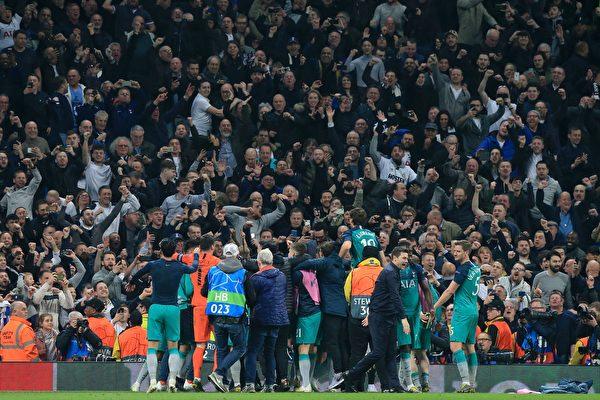 热刺惊心动魄淘汰曼城 进欧冠4强