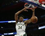NBA季後賽:雄鹿4比0橫掃活塞 強勢晉級