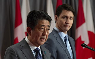 安倍晉三訪問加拿大 特魯多談推動兩國貿易