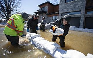 洪峰预计周二才到 加拿大安魁两省已重灾