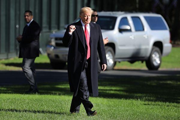 本報獲悉美國總統川普預計在5月16日(週四)下午或傍晚期間返回紐約曼哈頓。(Saul Loeb/AFP/Getty Images)