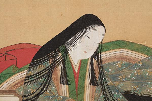 土佐光吉,《紫式部肖像》立轴,绢本设色。(大都会艺术博物馆提供)