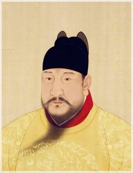 明仁宗朱高炽(洪熙帝)画像,台北故宫博物院藏。(公有领域)