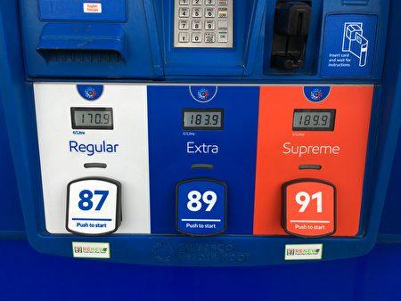 4月17日,大温哥华地区的油价再涨一分,达到$1.709/升,成为北美的最新纪录。(童宇/大纪元)