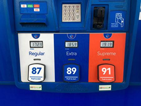 4月20日,大温哥华地区的油价再一次打破几天前创造的纪录,达到了$1.729/升。图为ESSO加油站当天的油价。(童宇/大纪元)
