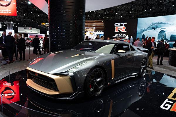 2019紐約國際車展,NISSAN GTR生產50週年紀念。(戴兵/大紀元)