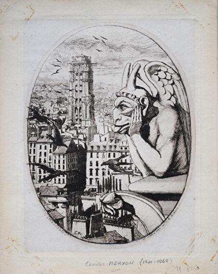 Charles Meryon (1821-1868) Le Stryge