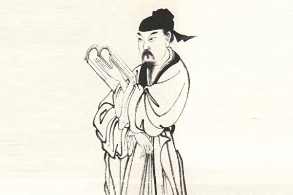 图为宋濂画像,据清上官周《晚笑堂画传》摹绘。(公有领域)