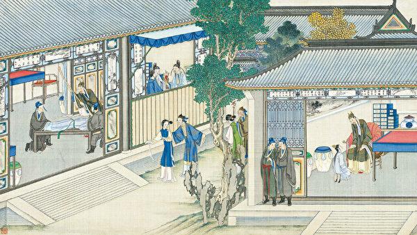 圖為清·孫溫彩繪《紅樓夢》插圖。(公有領域)