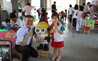 宣信附幼环保市集  让孩子学到表达及沟通