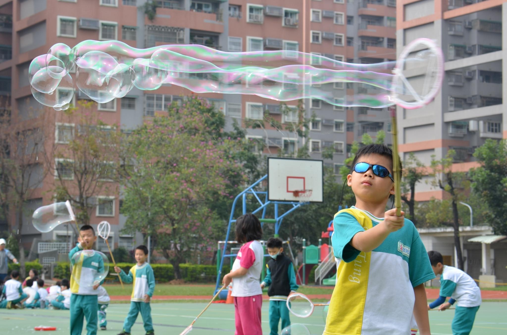 嘉義大同國小兒童節歡樂泡泡奇蹟