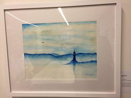 賽謬爾的畫作《燈塔》。