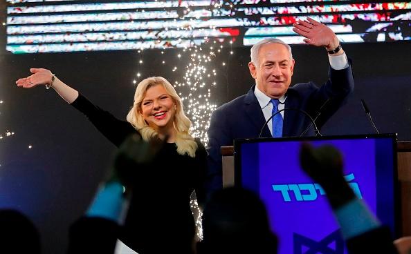 以色列国会大选落幕,以色列总理本杰明‧内塔尼亚胡确定获得第5个总理任期。(Thomas Coex/AFP/Getty Images)