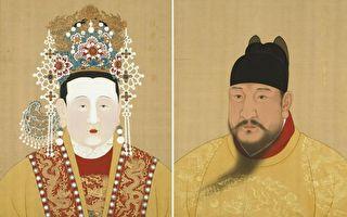 明仁宗朱高炽(洪熙皇帝,右)登基一年即驾崩,他和张皇后(左)的长子朱瞻基继位,即明宣宗(宣德皇帝)。(公有领域/大纪元合成)