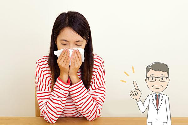 鼻塞通常是感冒或鼻炎引起,按摩两部位可舒缓鼻塞。(Shutterstock/大纪元制图)