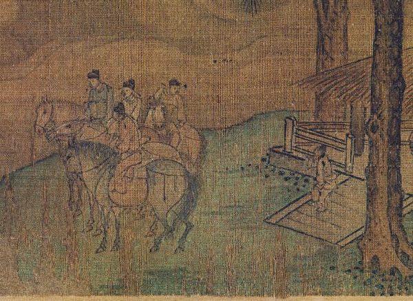 (传)金杨邦基《聘金图》巻(局部),纽约大都会艺术博物馆藏。(公有领域)
