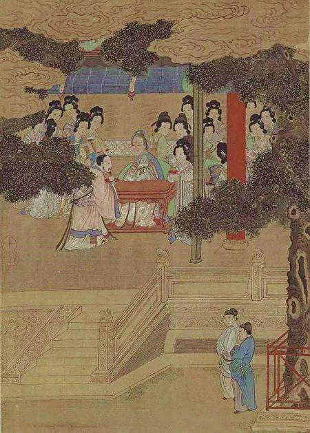 图为明 仇英《二十四孝·汉文帝亲尝汤药》,台北国立故宫博物院藏。(公有领域)