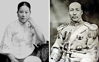 施劍翹(左)為父報仇後,獲國民政府特赦。右為軍閥孫傳芳。(公有領域)